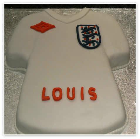 football t shirt cake template - england football shirt birthday cake